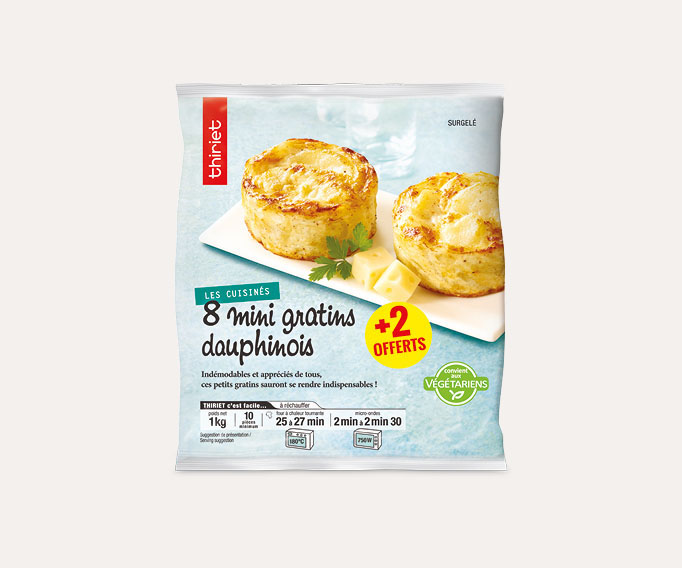8 Mini gratins dauphinois + 2 offerts