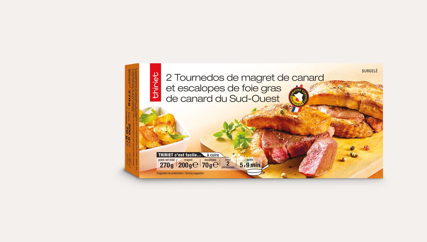2 Tournedos de magret de canard et escalopes de foie gras