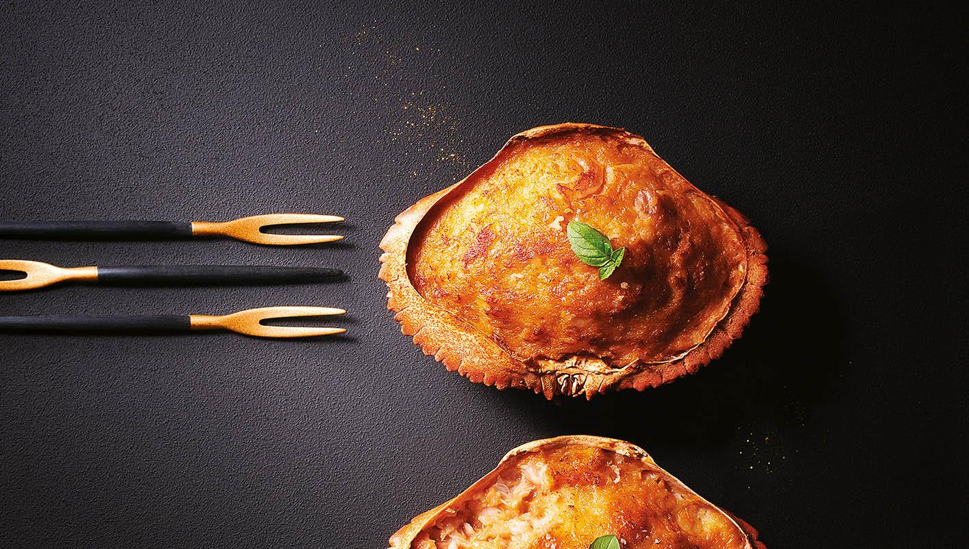2 Crabes farcis, sauce homardine
