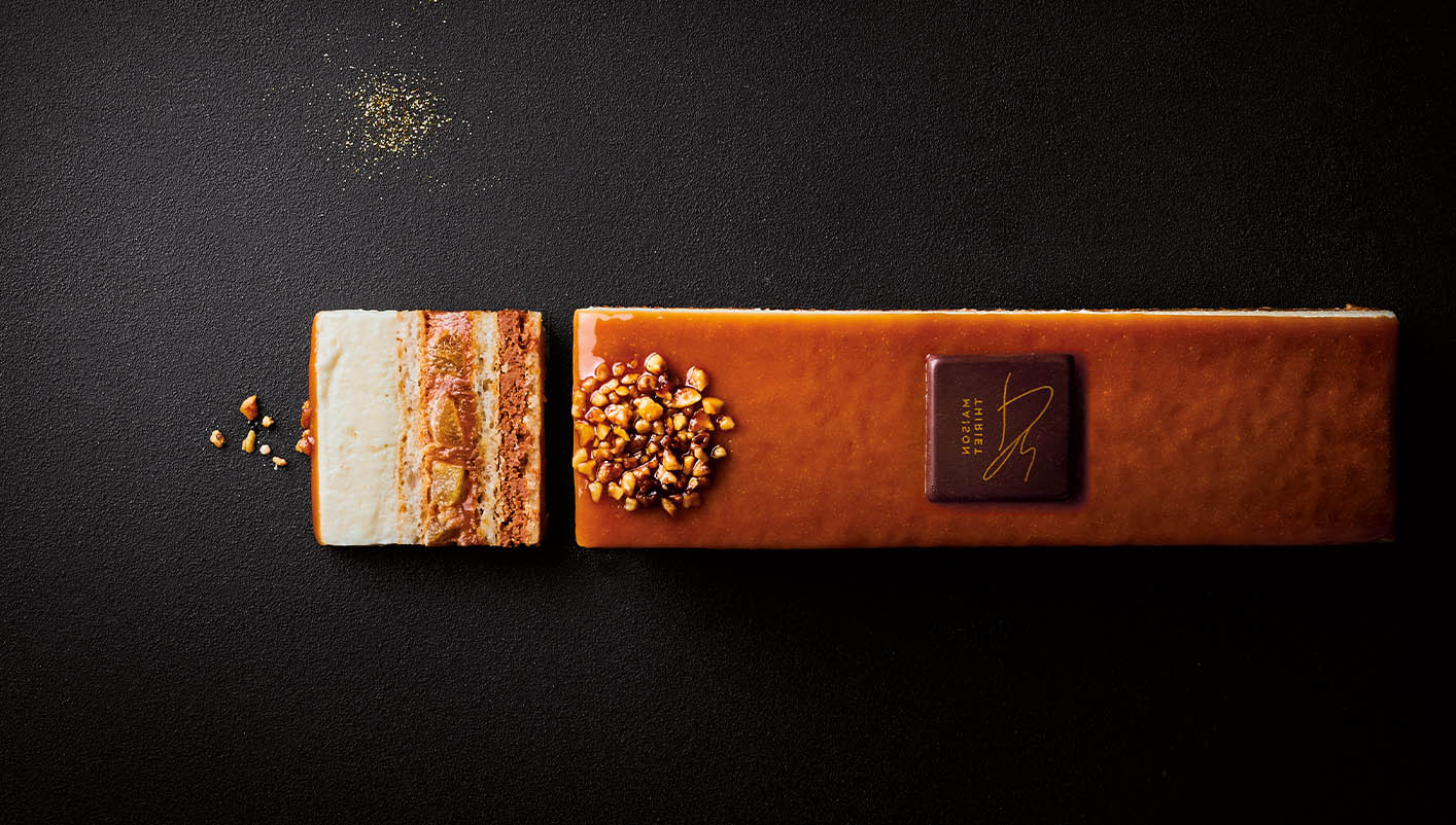 Délice pâtissier poire caramel