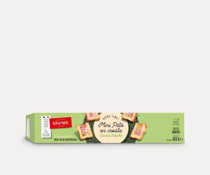 Mini pâté en croûte canard pistache
