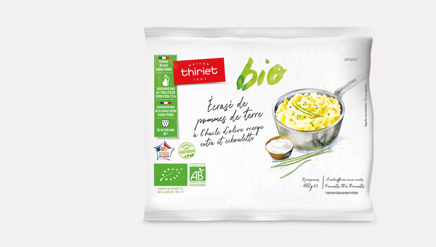 Écrasé de pommes de terre à l'huile d'olive et ciboulette