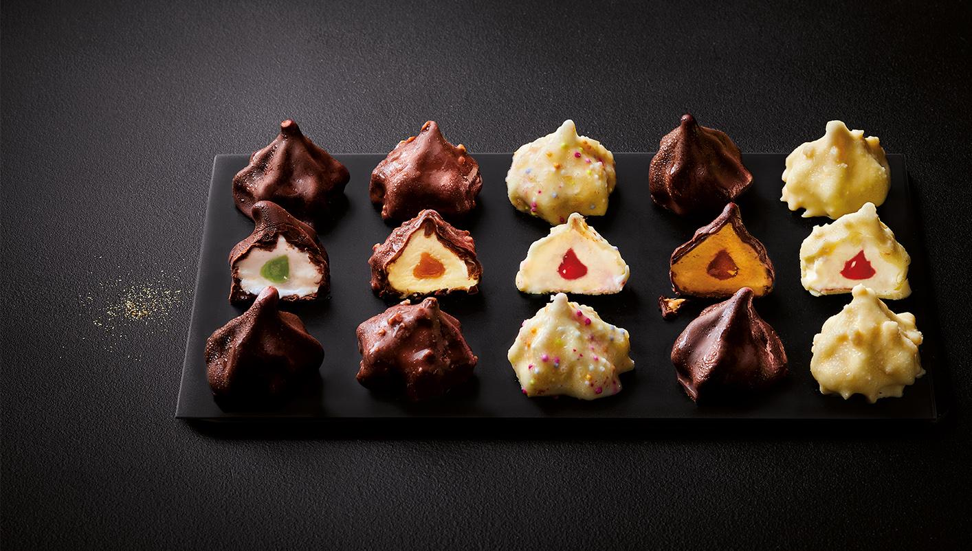 12 Rochers glacés menthe/chocolat