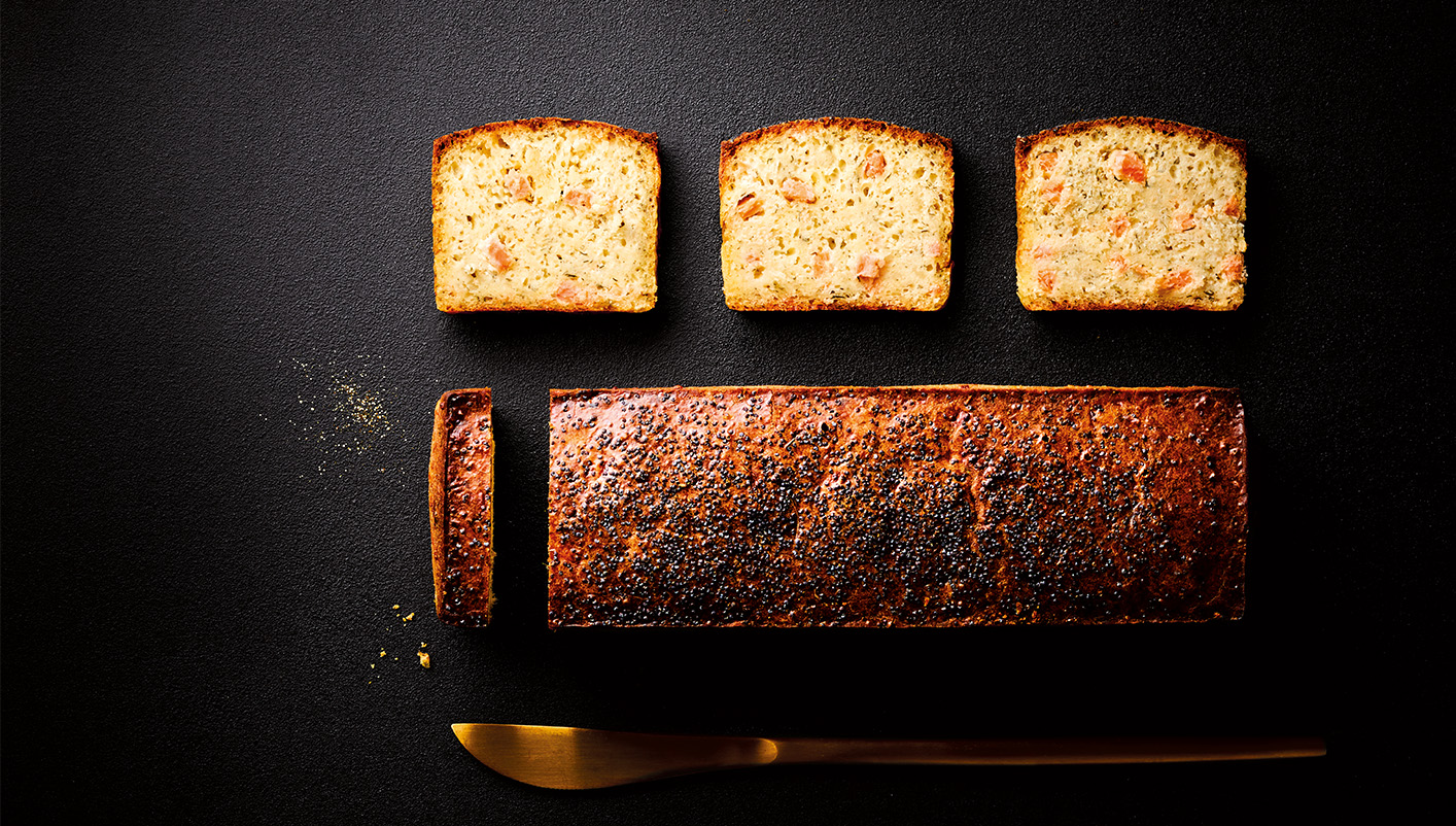 Cake apéritif au saumon fumé