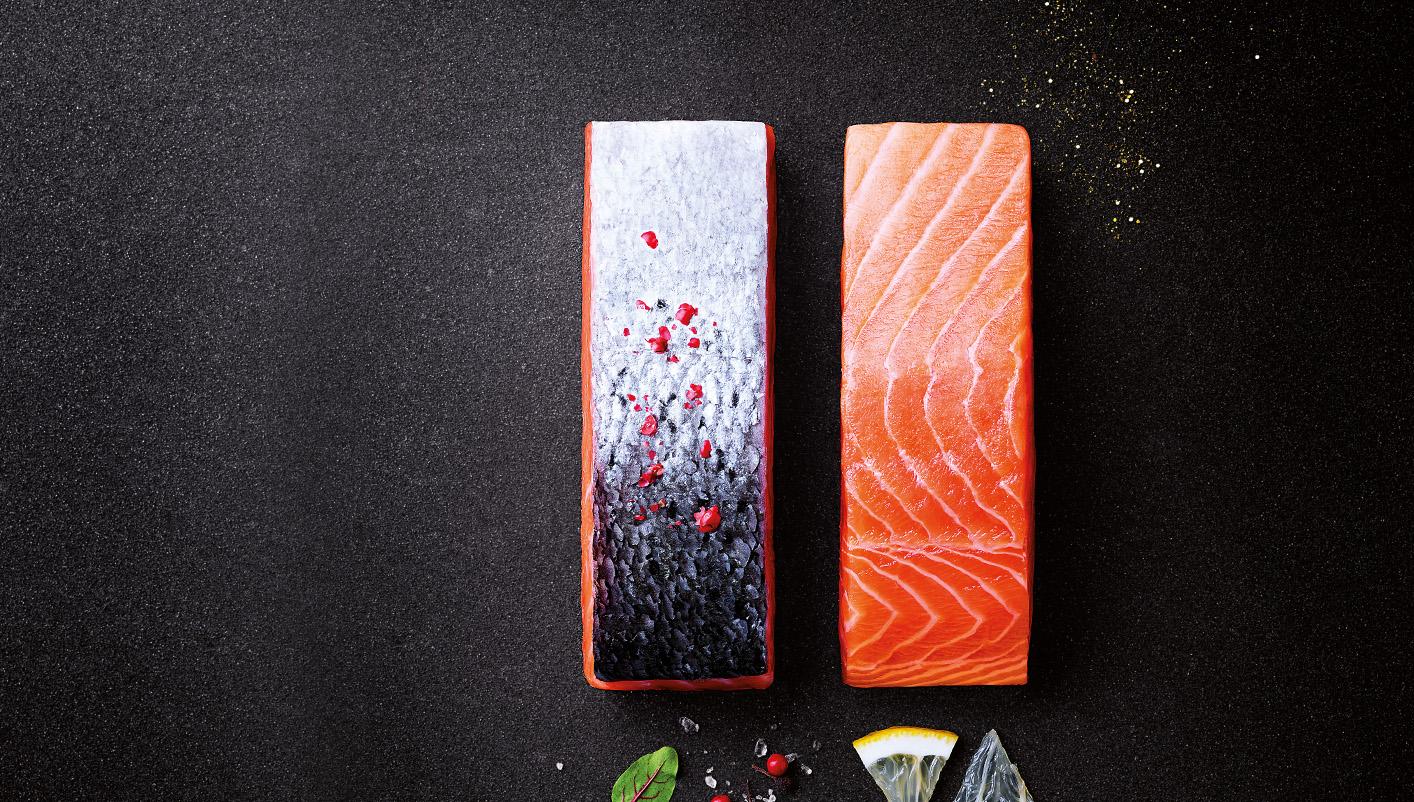 4 Pavés de saumon Atlantique avec peau