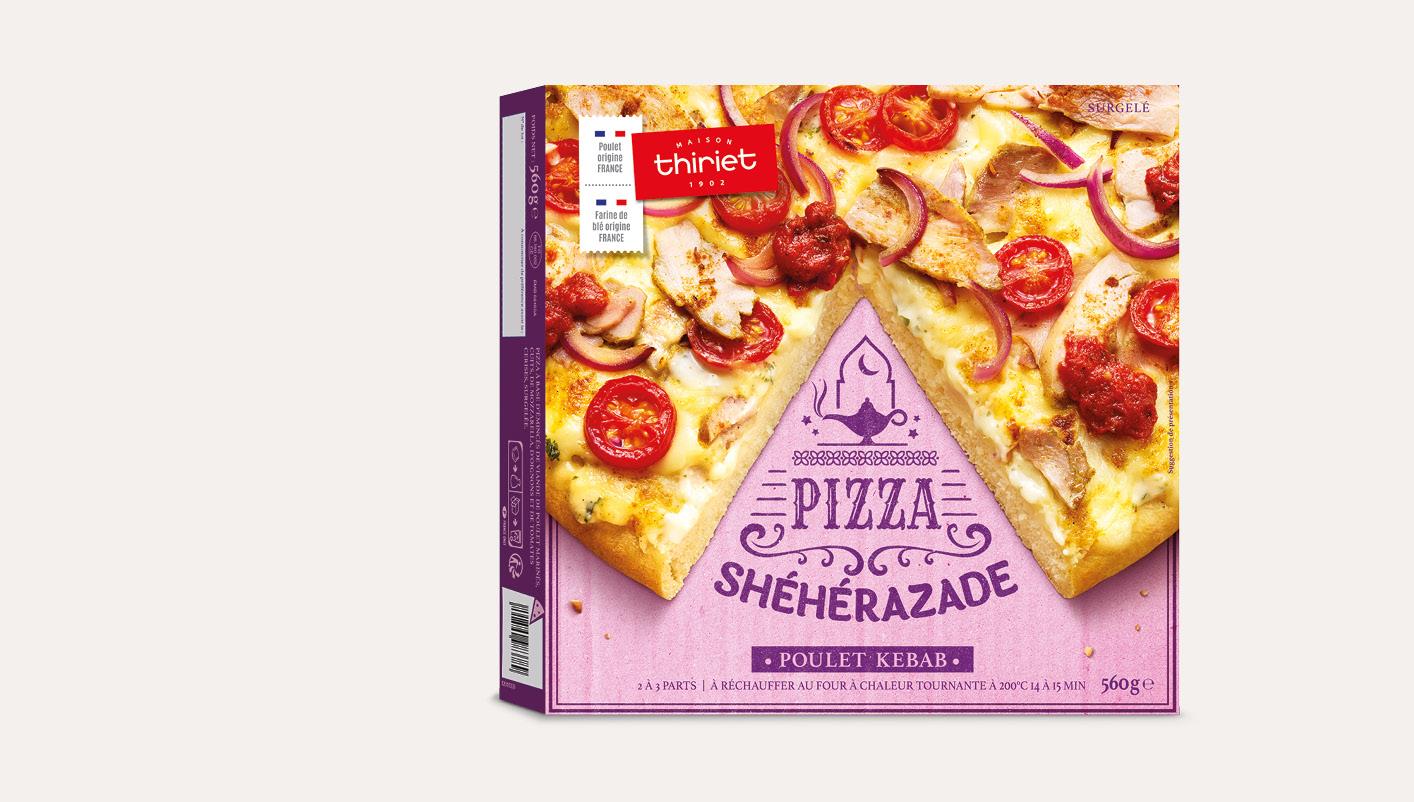 Pizza pâte épaisse Shéhérazade - Poulet Kebab