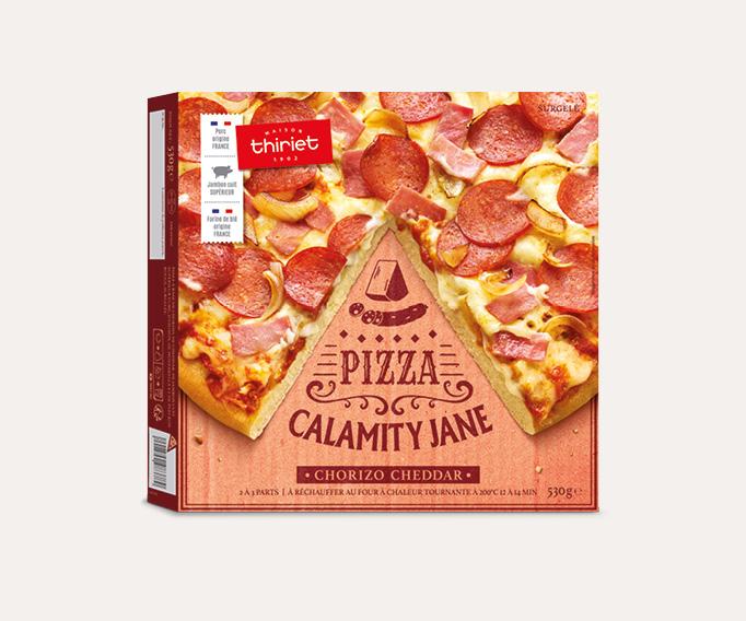 Pizza pâte épaisse Calamity Jane - chorizo cheddar