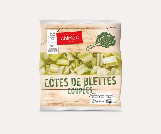 Côtes de blettes coupées