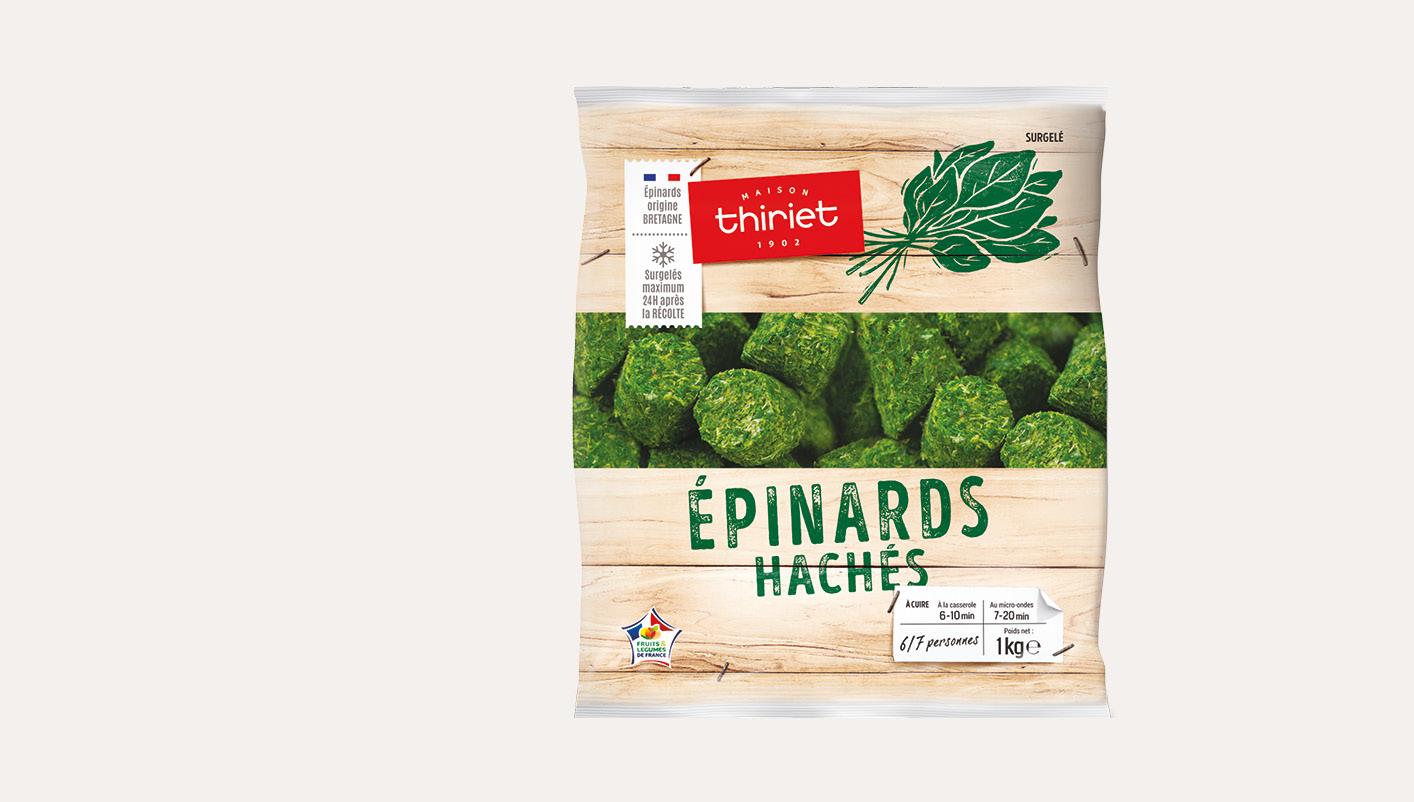 Epinards hachés