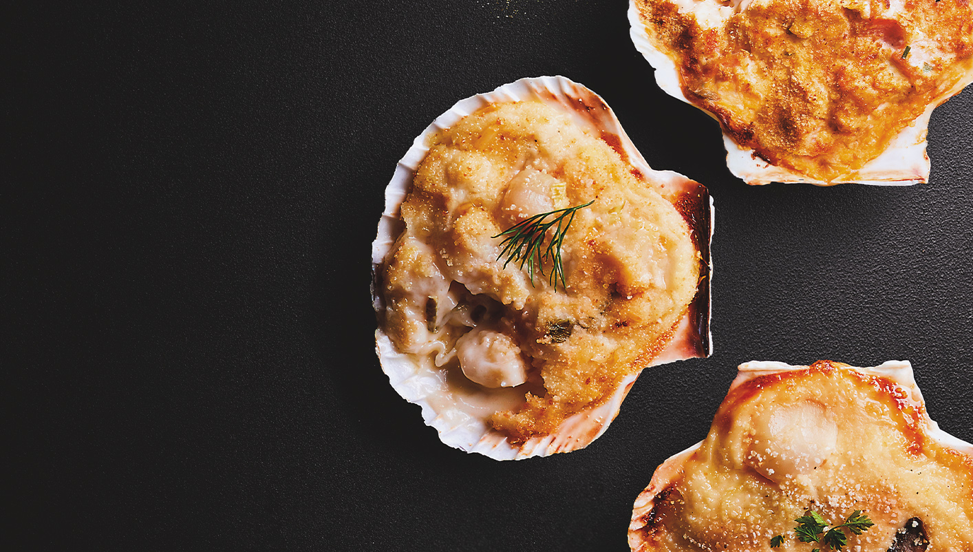 2 Coquilles St-Jacques (noix 45%) - Riesling AOC