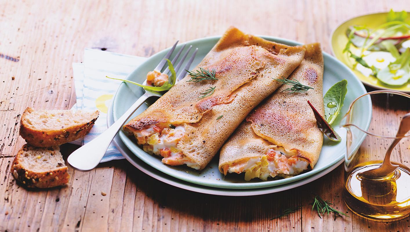 2 Galettes saumon, petits légumes