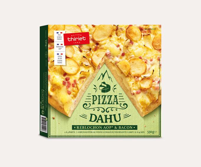 Pizza pâte épaisse Dahu - Reblochon AOP* et bacon