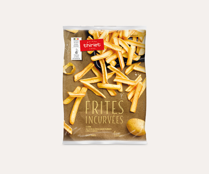 Frites incurvées