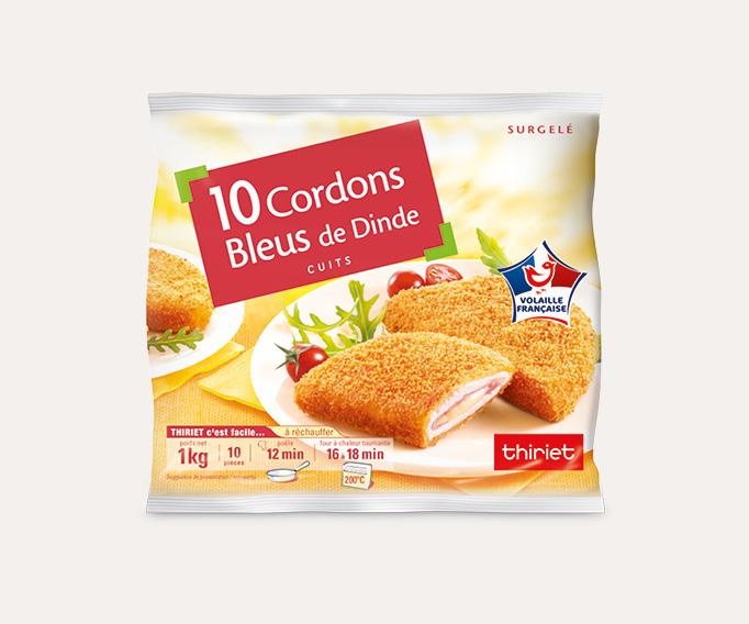 10 Cordons bleus de dinde cuits Lot de 2 sachets