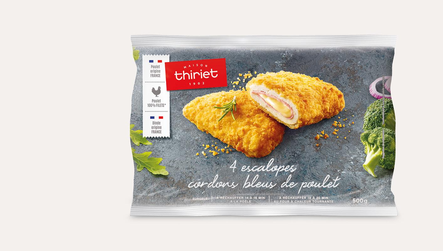 4 Escalopes cordons bleus de poulet