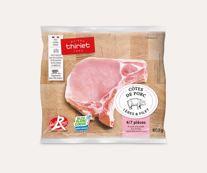 Côtes de porc premières et filet