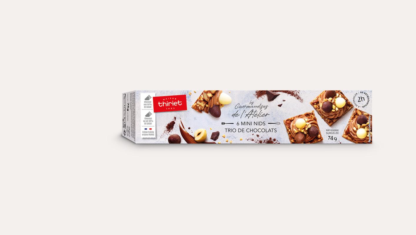 6 Mini nids, trio de chocolat
