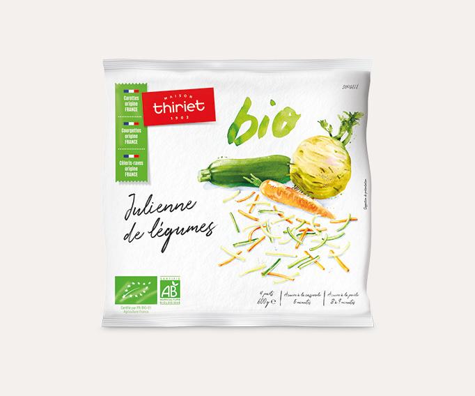 Julienne de légumes biologiques