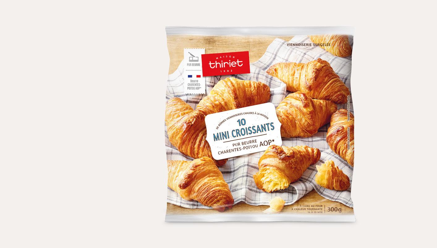 10 Mini croissants - pur beurre Charentes-Poitou AOP*