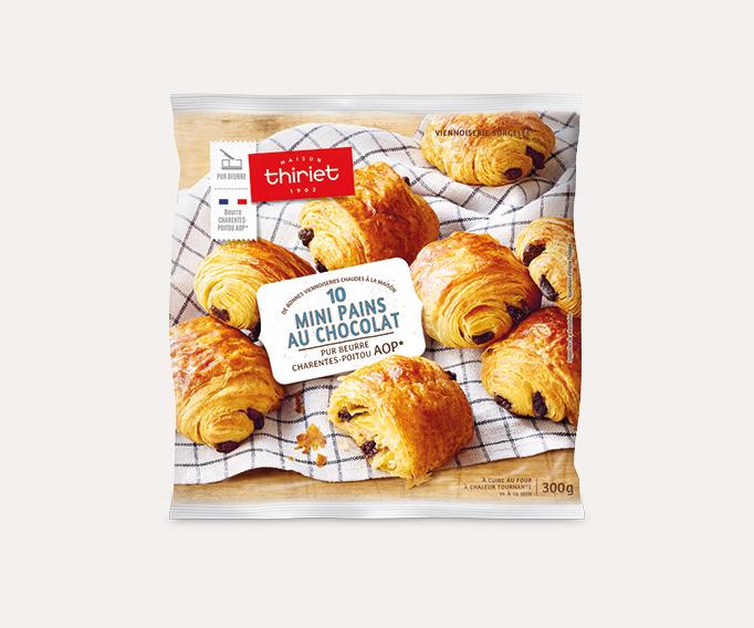 10 Mini pains au chocolat - pur beurre Charentes-Poitou AOP*