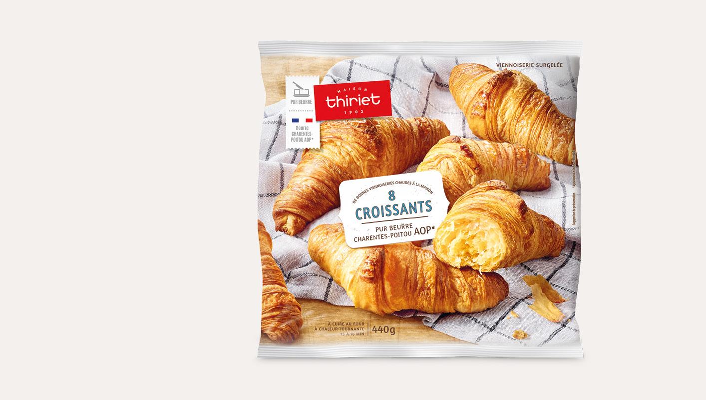 8 Croissants - pur beurre Charentes-Poitou AOP*