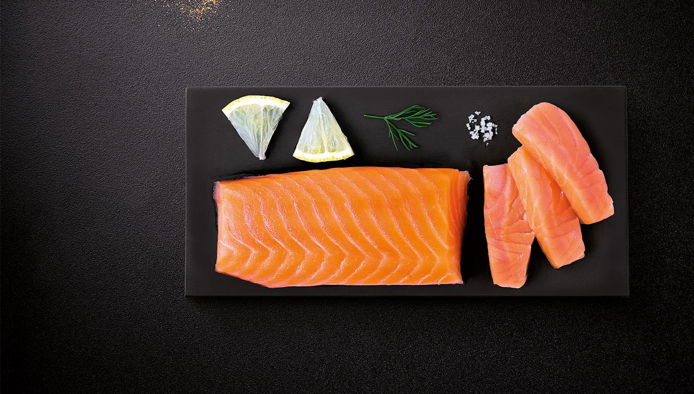 Coeur de filet de saumon Atlantique fumé - Norvège