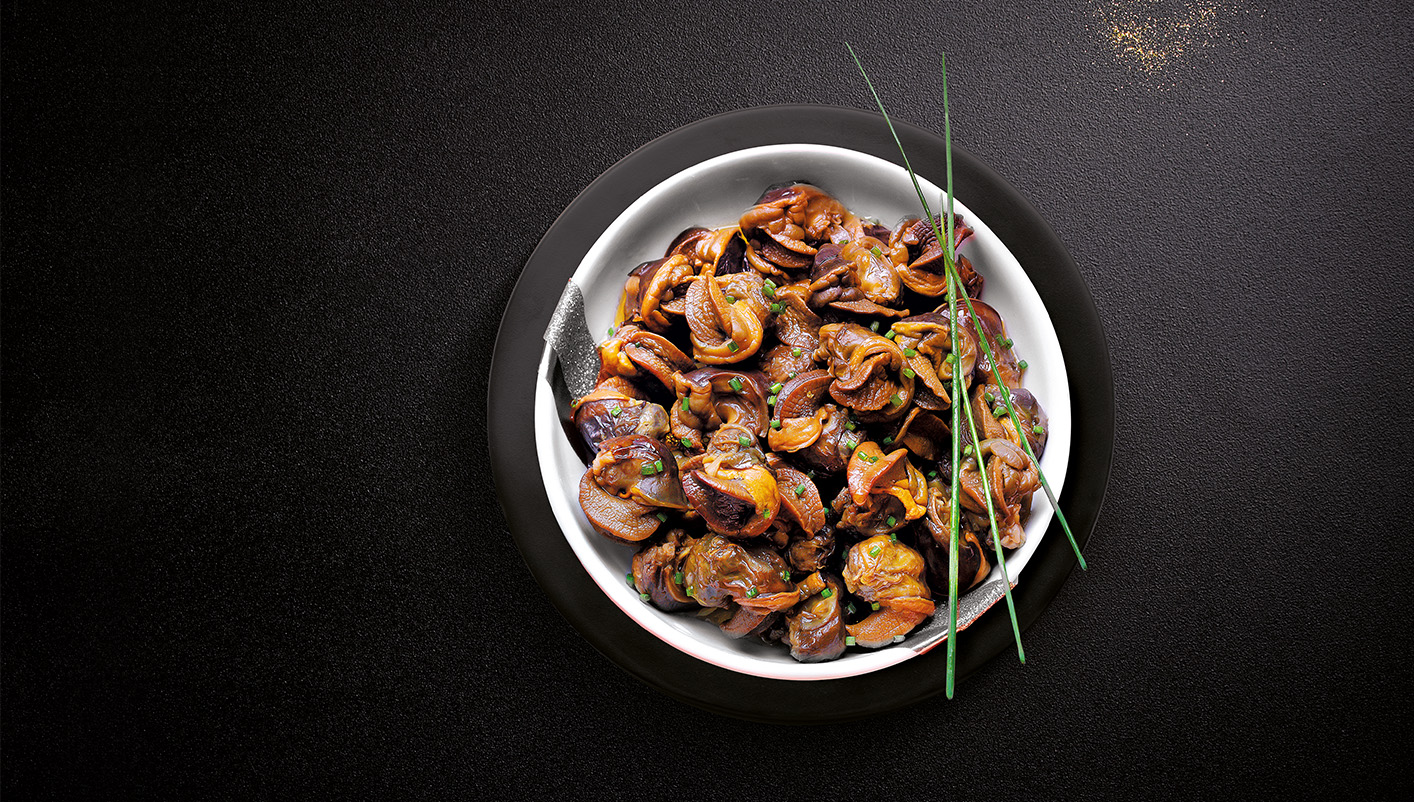 Chairs d'escargots de Bourgogne cuites