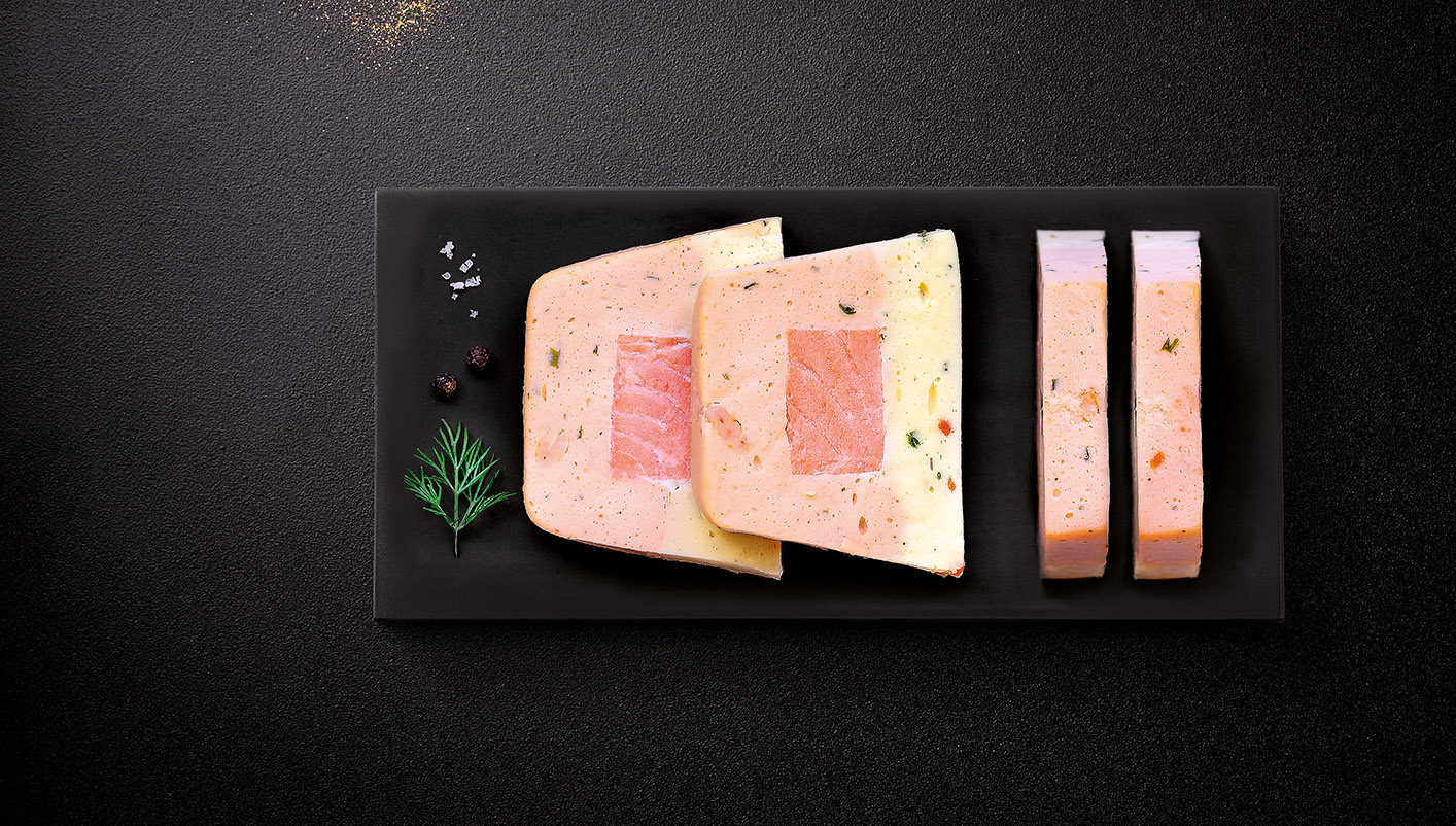 4 Tranches de terrine au saumon