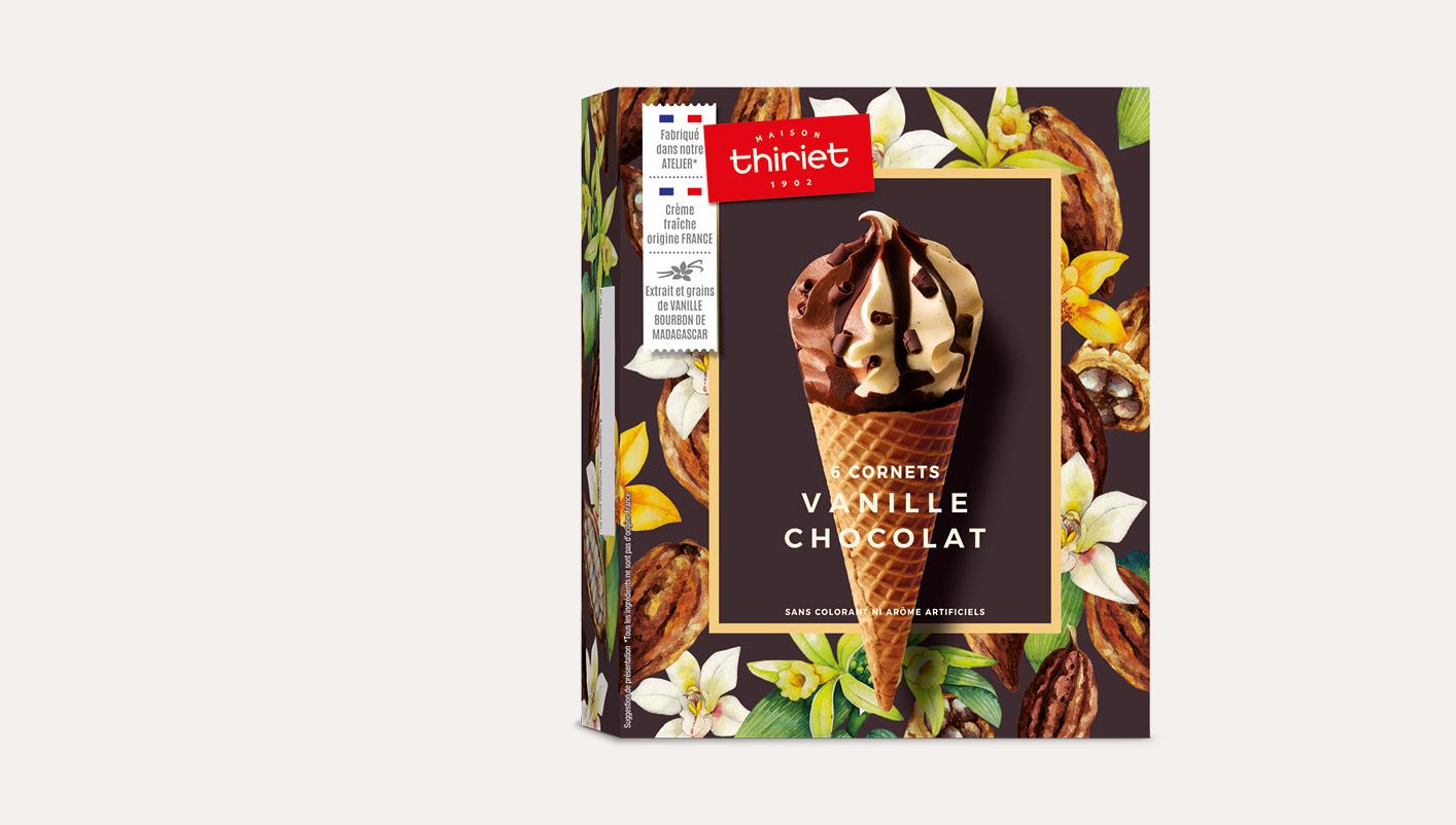 6 Cornets Vanille Chocolat