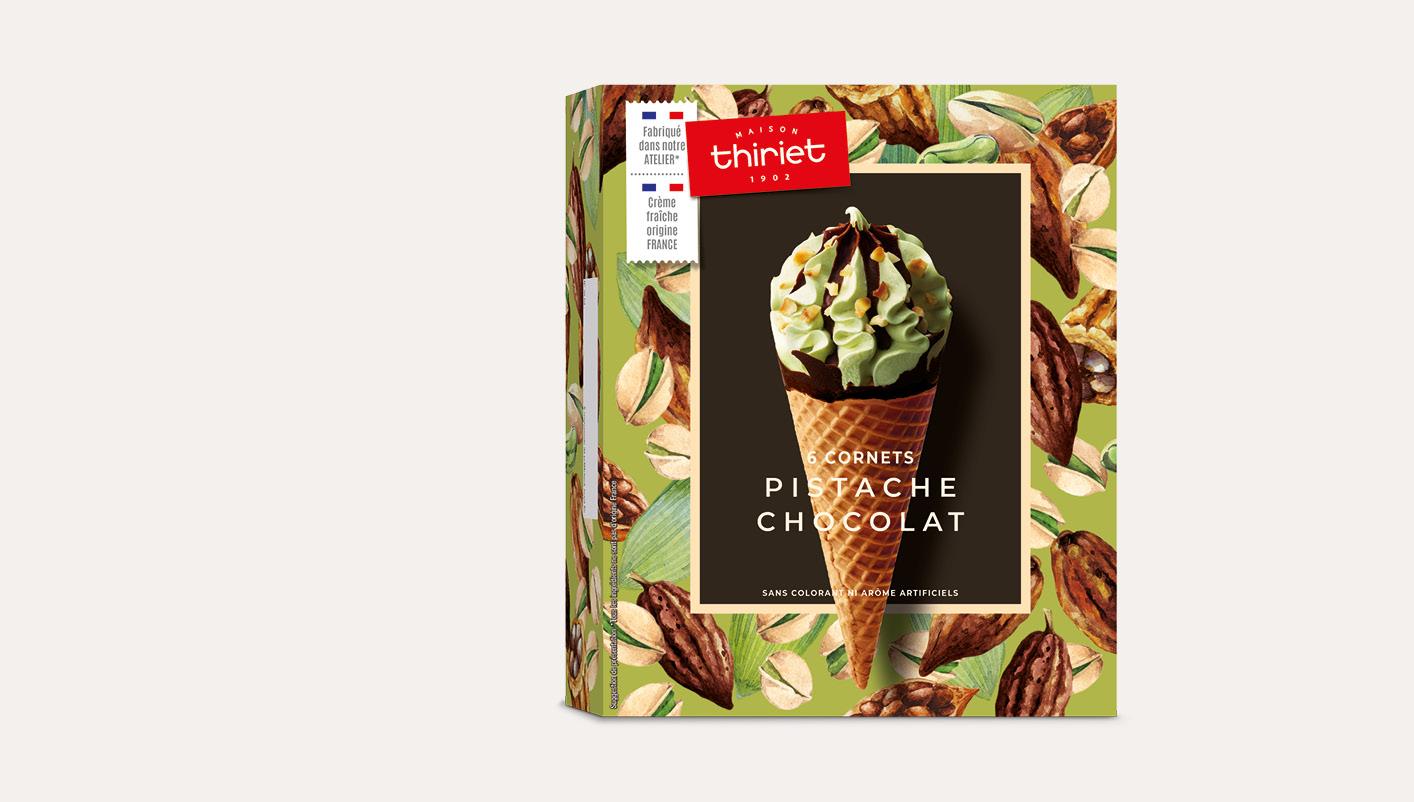 6 Cornets Pistache Chocolat