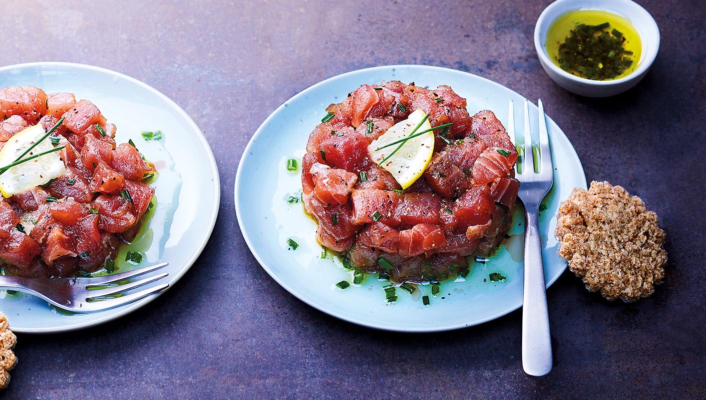 2 Tartares de thon Albacore et sauce citron ciboulette