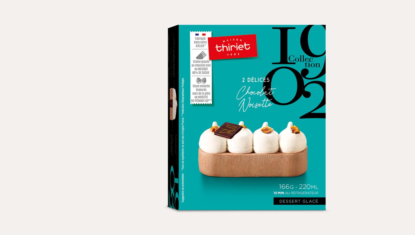 2 Délices glacés chocolat-noisette