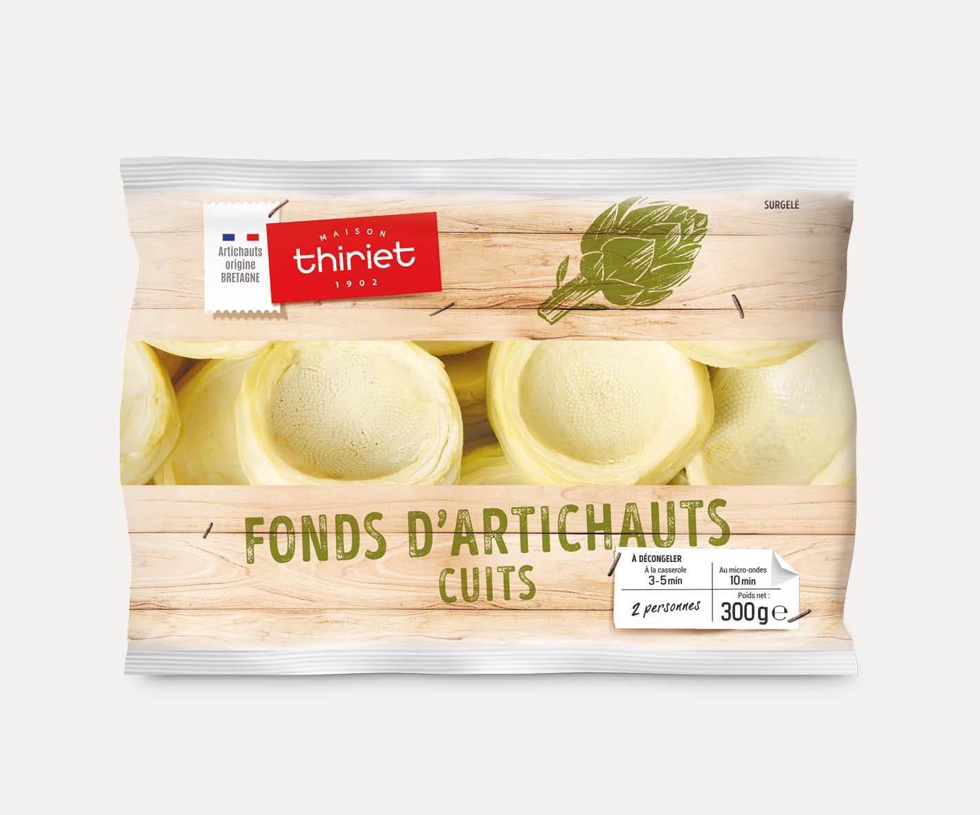 Fonds d'artichauts cuits de Bretagne