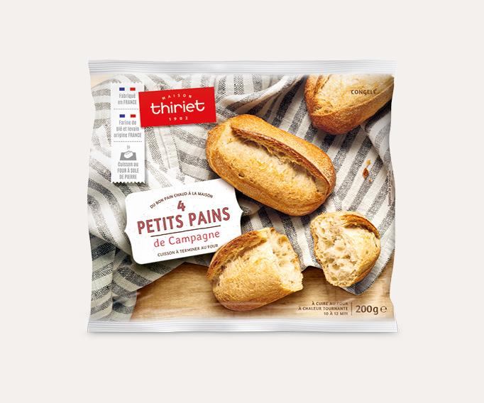 4 Petits pains de campagne Lot de 2 sachets au choix