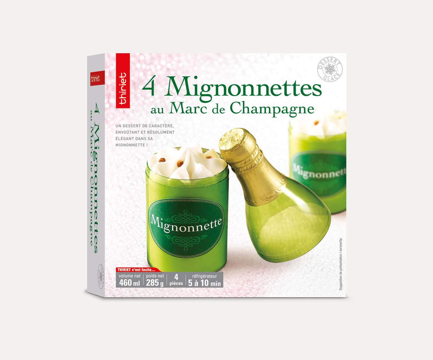 4 Mignonnettes au Marc de Champagne