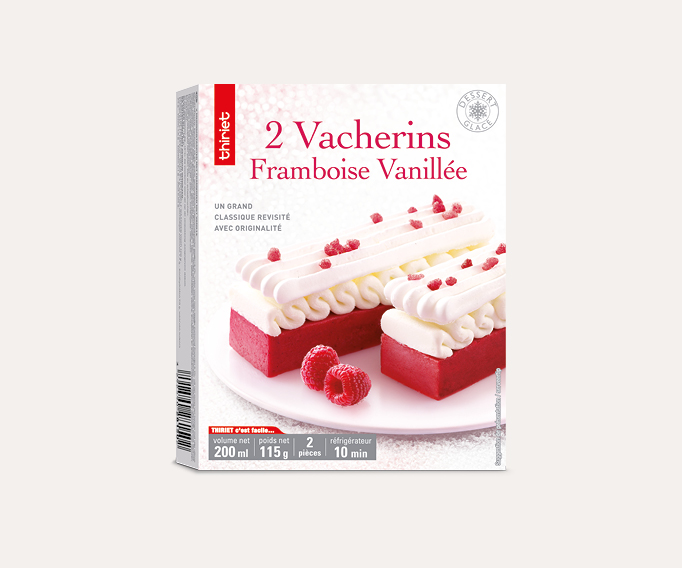 2 Vacherins framboise vanillée