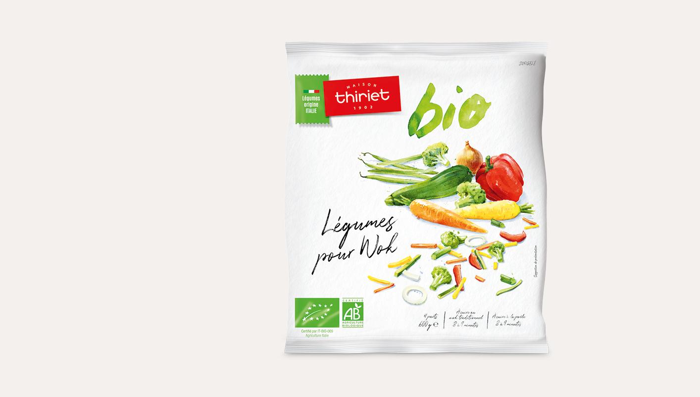 Légumes biologiques pour wok