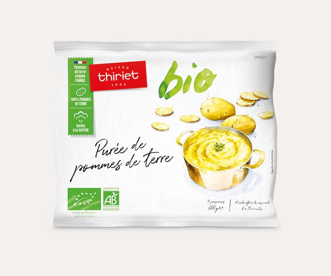 Purée de pommes de terre biologiques