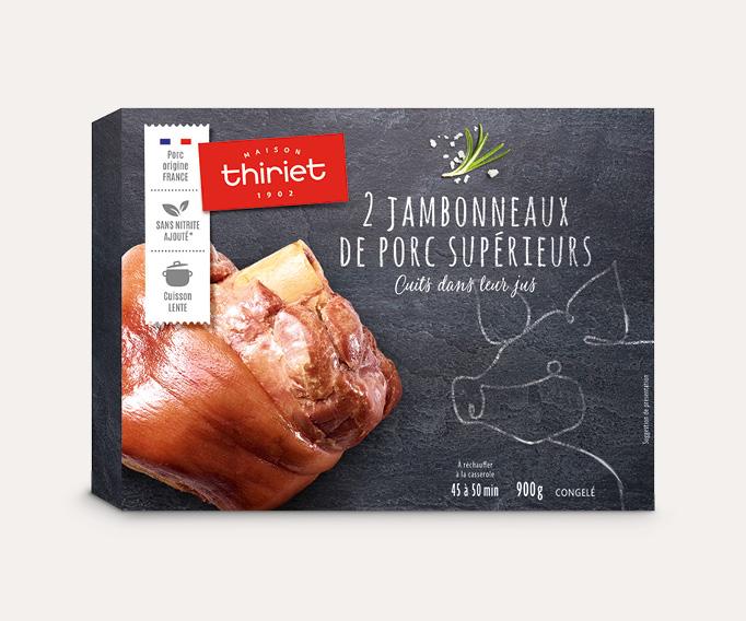 2 Jambonneaux de porc supérieurs cuits dans leur jus
