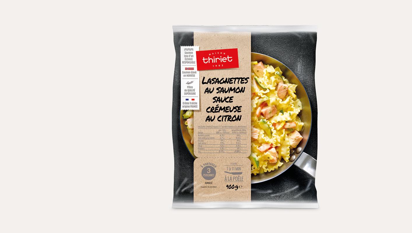 Lasagnettes au saumon sauce crémeuse au citron
