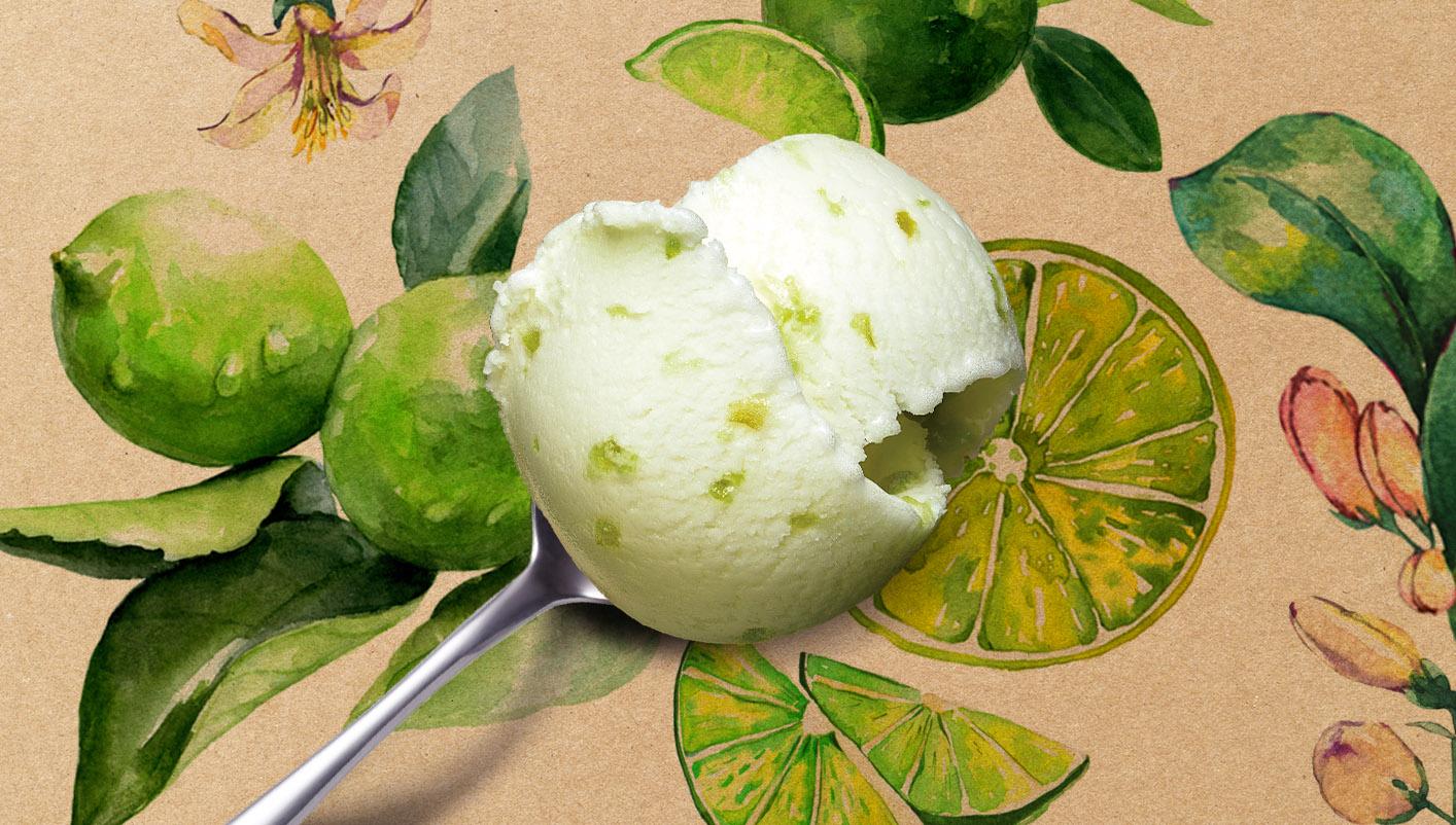 Sorbet Plein Fruit citron vert avec morceaux de citron