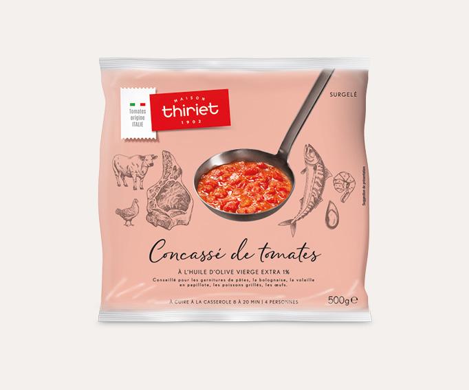 Concassé de tomates à l'huile d'olive vierge extra 1%