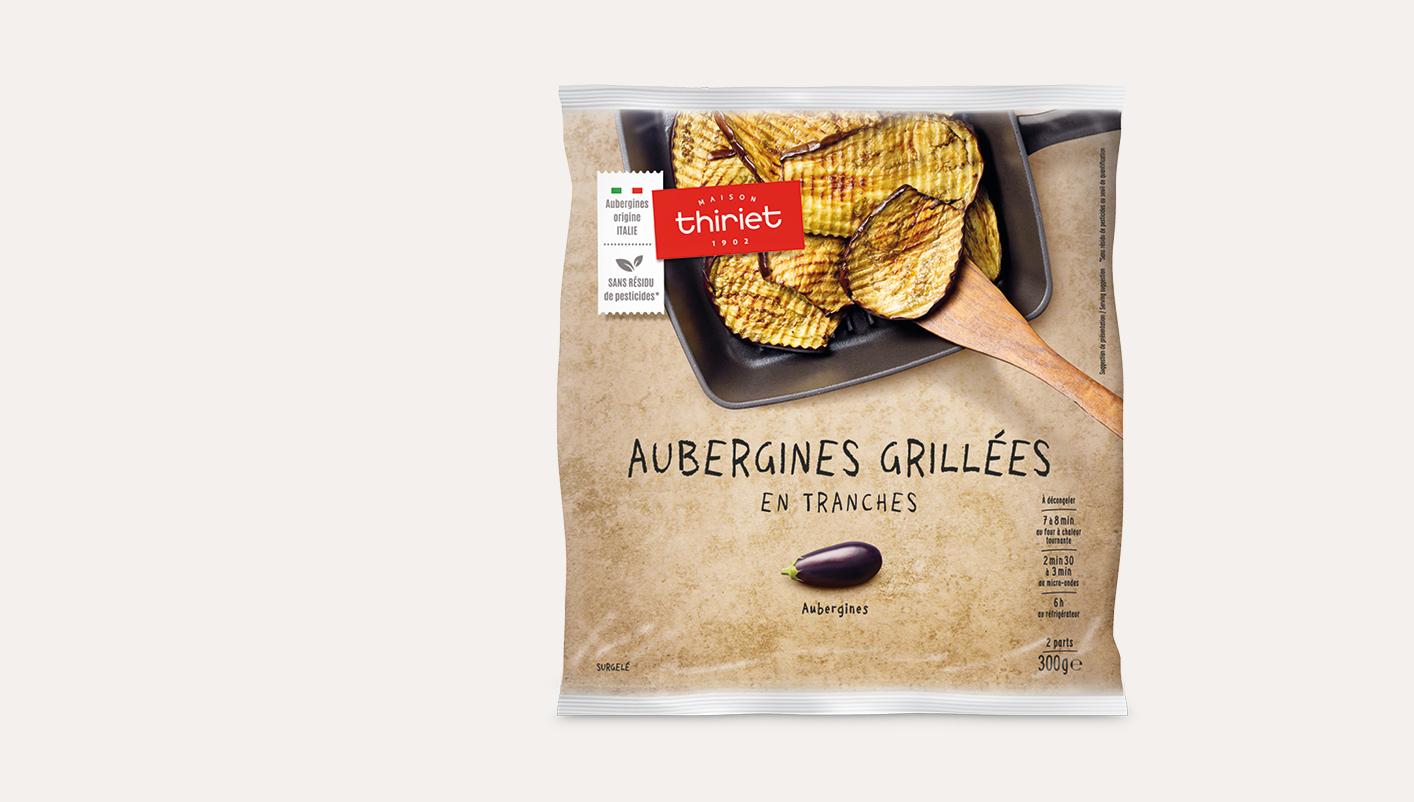 Aubergines grillées en tranches