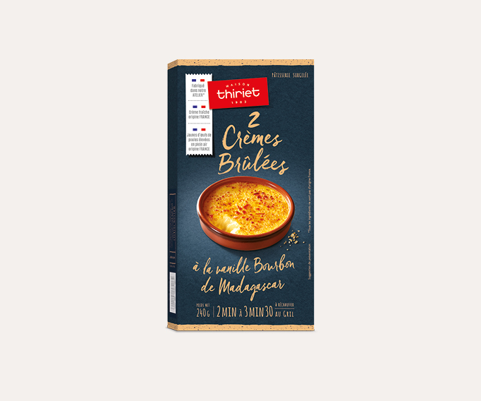 2 Crèmes brûlées à la vanille bourbon de Madagascar