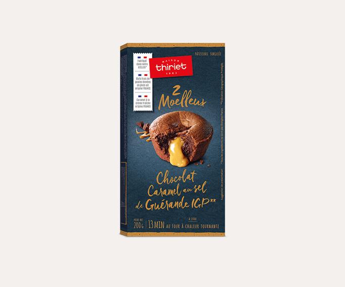 2 moelleux chocolat caramel au sel de Guérande IGP*