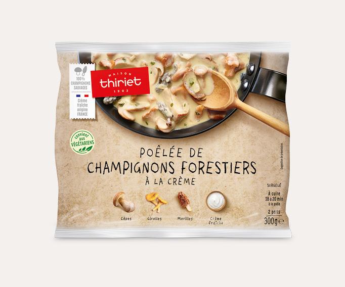 Poêlée de champignons forestiers à la crème