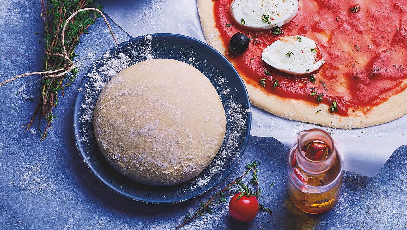 2 Boules de pâte à pizza à l'huile d'olive