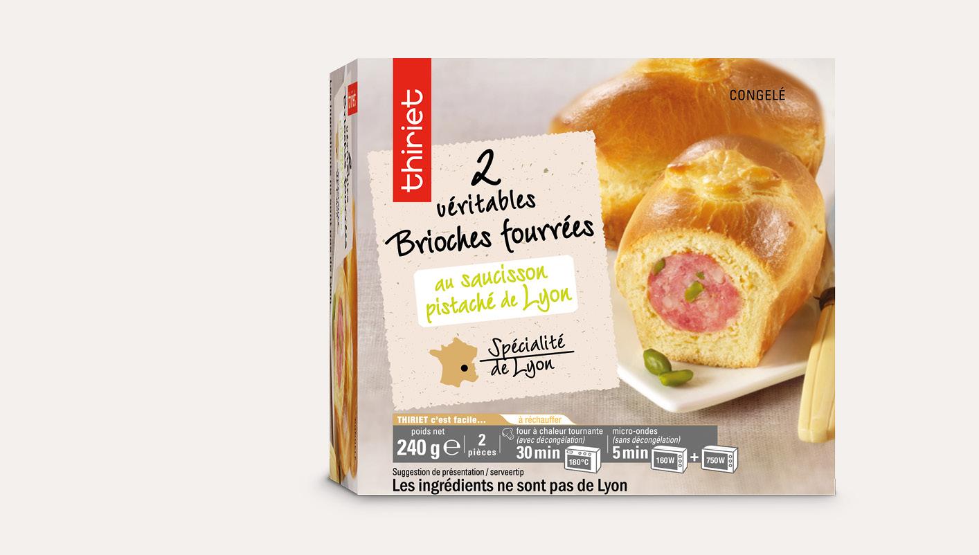 2 Véritables brioches saucisson de Lyon pistaché