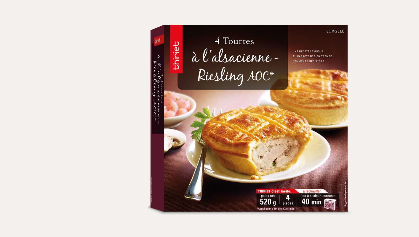 4 tourtes alsaciennes - Riesling AOC*