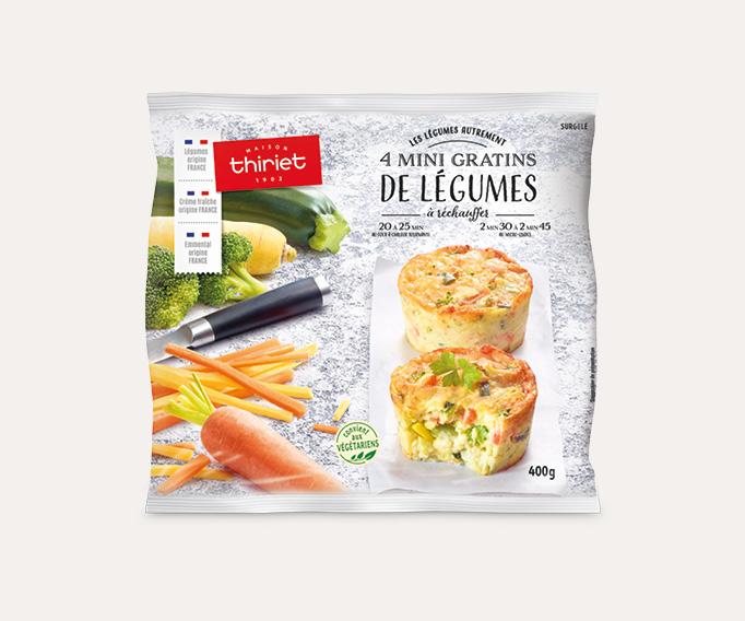 4 Mini gratins de légumes